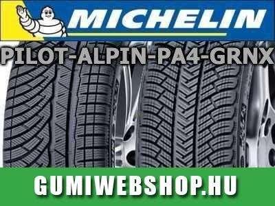 Michelin Pilot Alpin PA 4 GRNX téligumi, a csendes és kényelmes útitárs